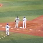 石川選手が第一打席で出塁すると…:ハマスタ観戦記