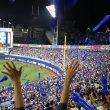 ラッキーセブンのスタージェット:横浜スタジアム