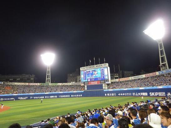 スターナイト外野席:レフトスタンドも横浜ファン