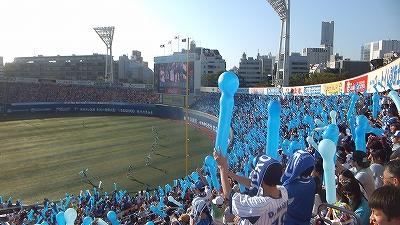 横浜スタジアム:ラッキーセブンスタージェットの風景