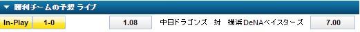 横浜DeNA対中日ドラゴンズ:ライブベット:ウィリアムヒル