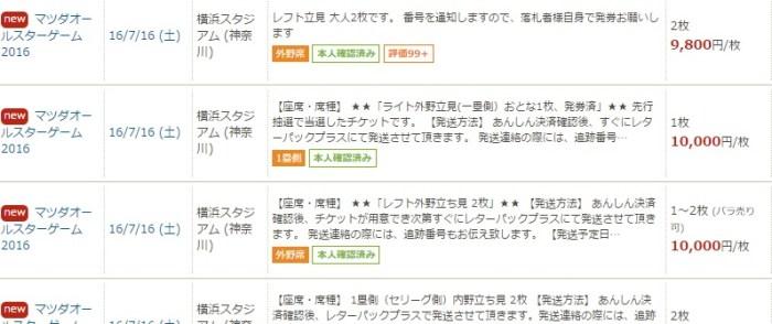 マツダオールスター:横浜スタジアムのチケット