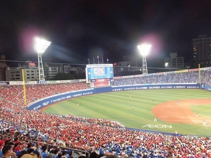 青ベイスターズと赤カープのコントラスト:横浜スタジアム観戦記