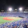 青で染まる横浜スタジアム:3塁側も