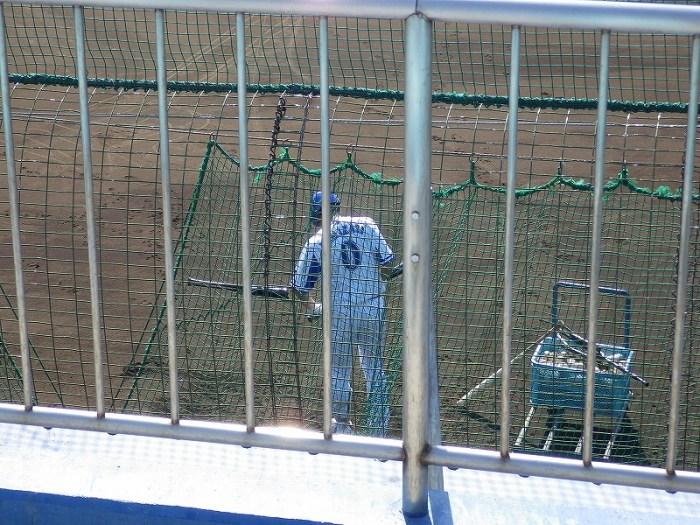 横浜DeNAベイスターズ:山崎憲晴選手:横須賀長浦総合練習場