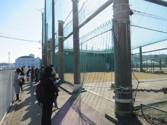 長浦練習場のブルペンの様子