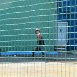 三嶋:ブルペンで投球:長浦練習場