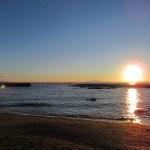 葉山:森戸海水浴場から見える夕日♪