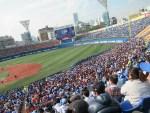横浜DeNAオープン戦観戦記【写真】!ド平日の真昼間なのにハマスタ人多!観客10000人て