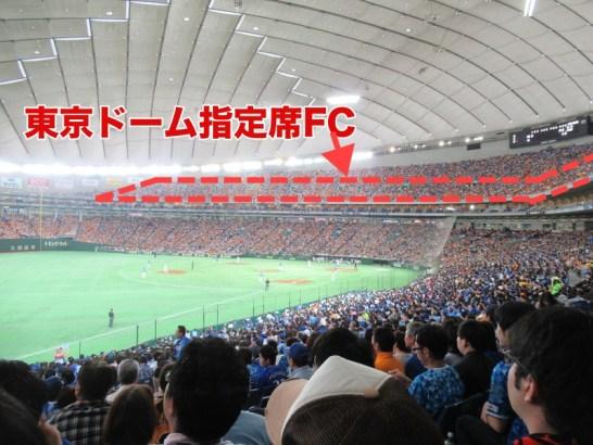 東京ドーム指定席FC2階席