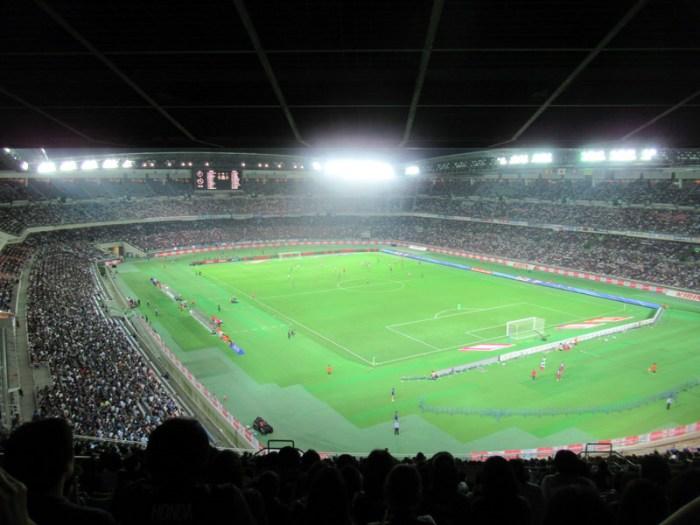 日本代表戦を日産スタジアム自由席で観る・景色