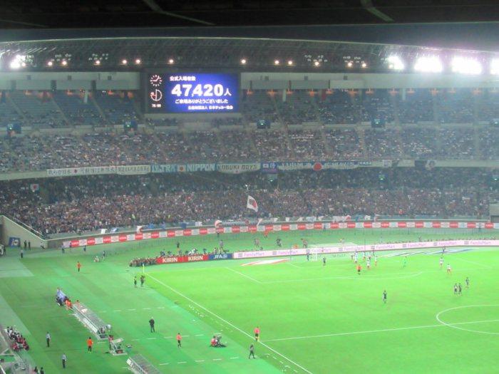日産スタジアムで日本代表戦
