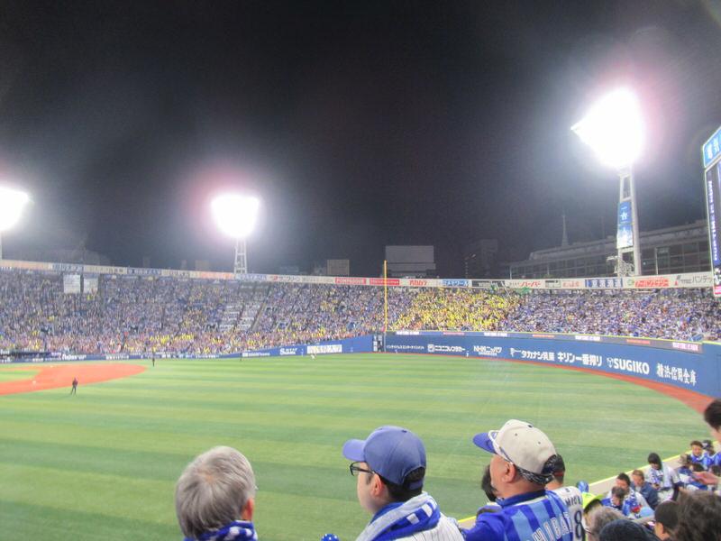 ソフトバンクファンの様子レフトスタンド:2017年横浜スタジアム日本シリーズ第3戦