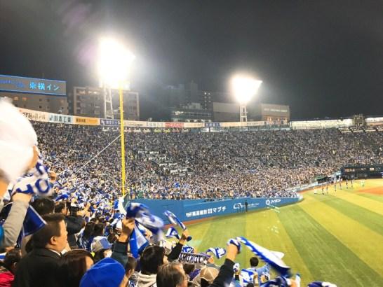 盛り上がる横浜スタジアムライトスタンド!日本シリーズ第3戦!