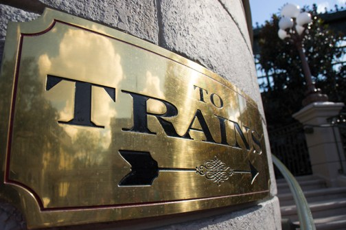 Walt Disney World railroad sign