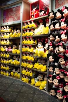 Minnie and Mickey stuffed toys