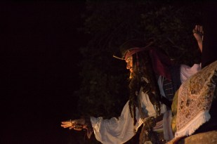 Captain Jack Sparrow in the Boo To You parade