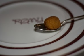 Deep Fried Tomato Soup Amuse Bouche