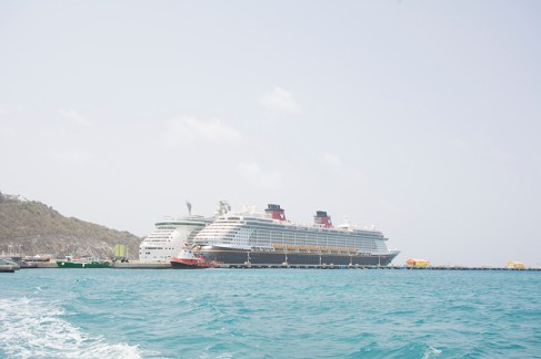 Disney Fantasy docked in St. Maarten