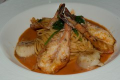 Shrimp and scallop pasta