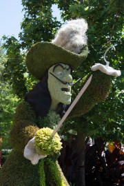 Captain Hook topiary