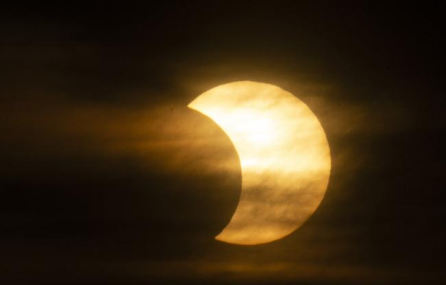 eclipse on the sun in canada