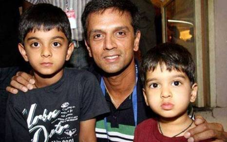 Image result for images of Anvay Dravid and Samit Dravid