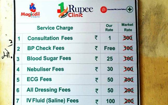 One Rupee Clinics at Mumbai railway stations