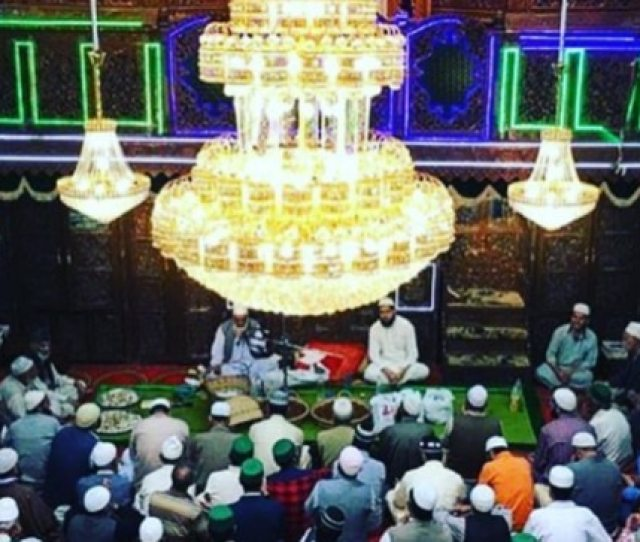 People Gathered On The Occasion Of Shab E Baraat