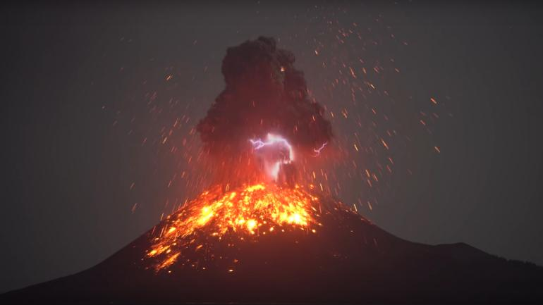 WATCH Volcano Creates Magnificent Lightning During