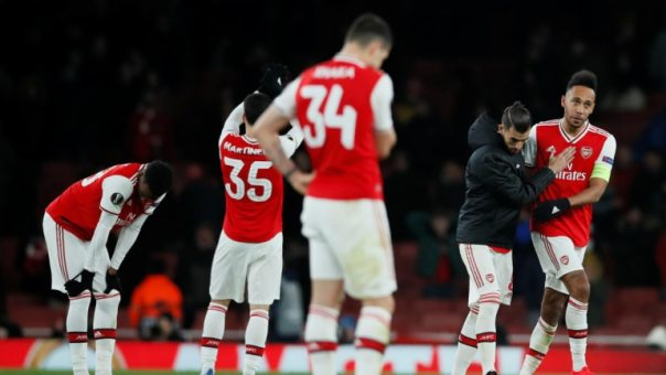 Image result for arsenal lose to olympiakos