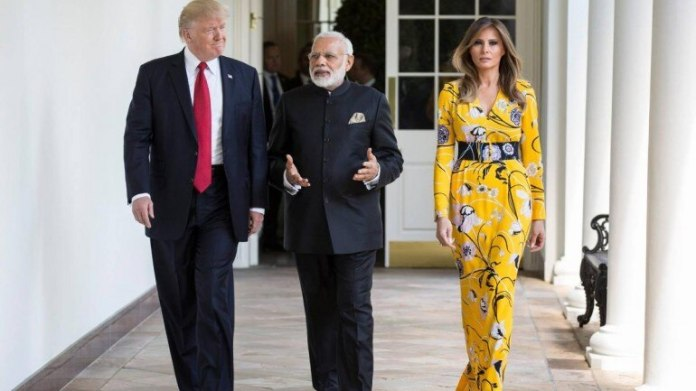 Image result for trump india with wife