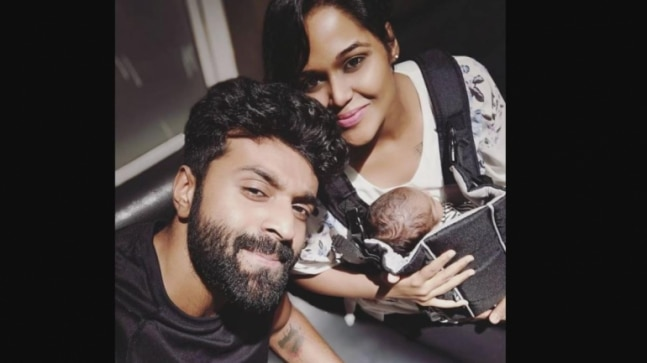 Singer Ramya NSK and husband Sathya blessed with a baby boy. See pic