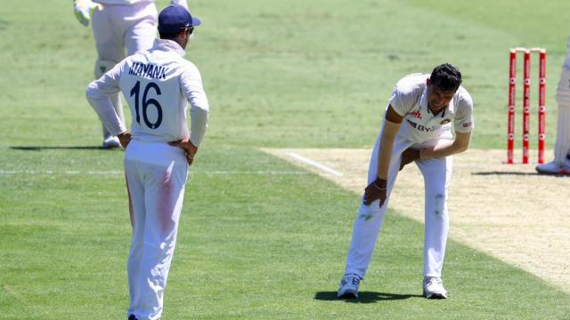 India pacer Navdeep Saini walked off the field on Friday