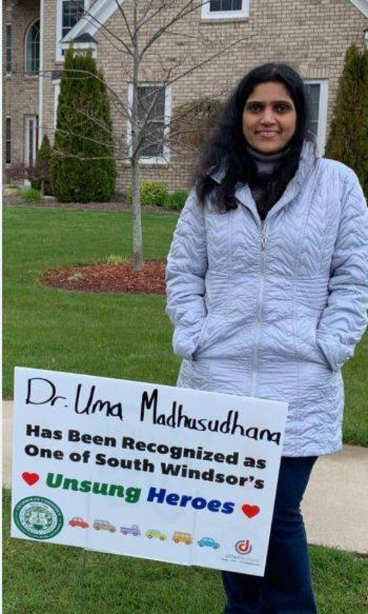 Dr. Uma Madhusudan-was-given-the-honor-to-treat-corona-patients-in-america