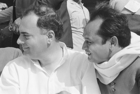 Ashok Gehlot, Rajiv Gandhi (Together)