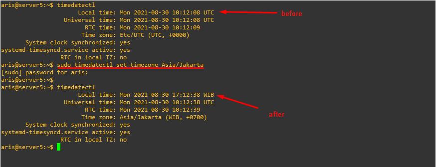 Cara Mengganti Time Zone pada linux ubuntu server. aris krisna. akm.web.id