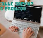 Schedule Backup dapat di jalankan menggunakan cronjob. Aris krisna akm.web.id