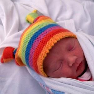 Knotty Baby Hat pattern by Amanda Schwabe