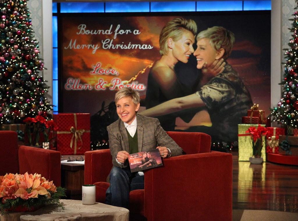 Ellen DeGeneres Amp Portia De Rossi From Celebrity Christmas