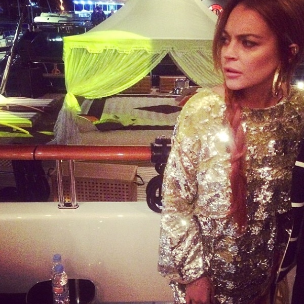 Lindsay Lohan Living It Up In Cannes Topless Selfies