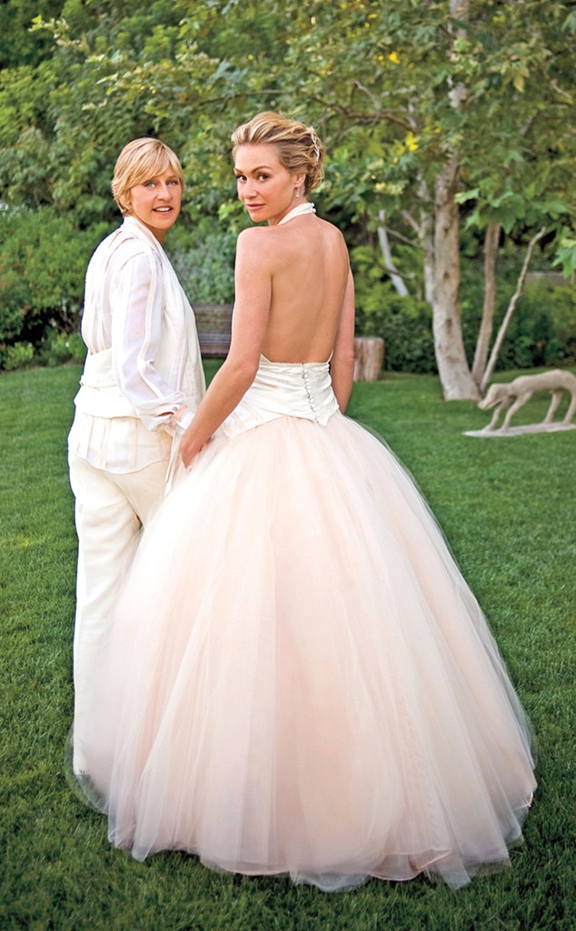 Image result for ellen degeneres wedding 600x600