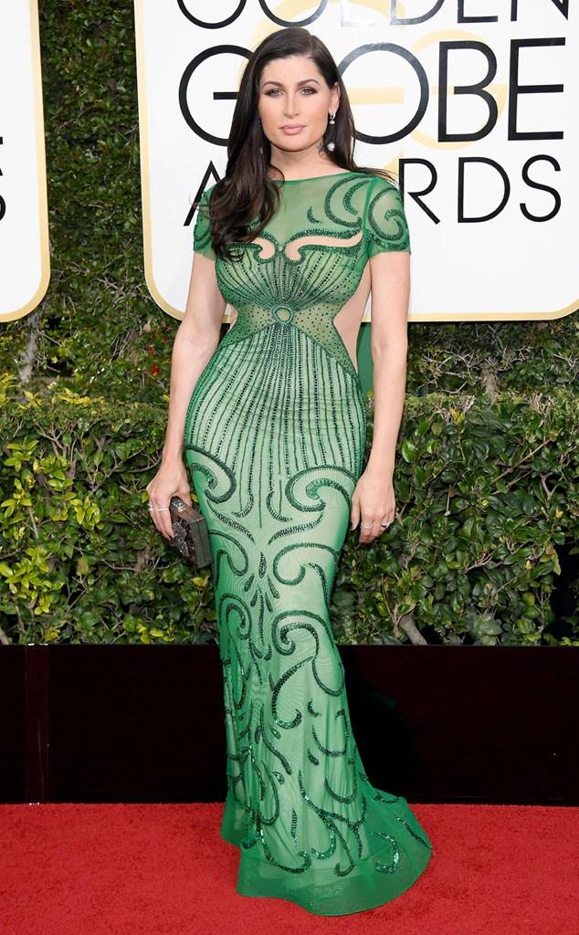 2017 Golden Globes Red Carpet Arrivals Trace Lysette, 2017 Golden Globes, Arrivals