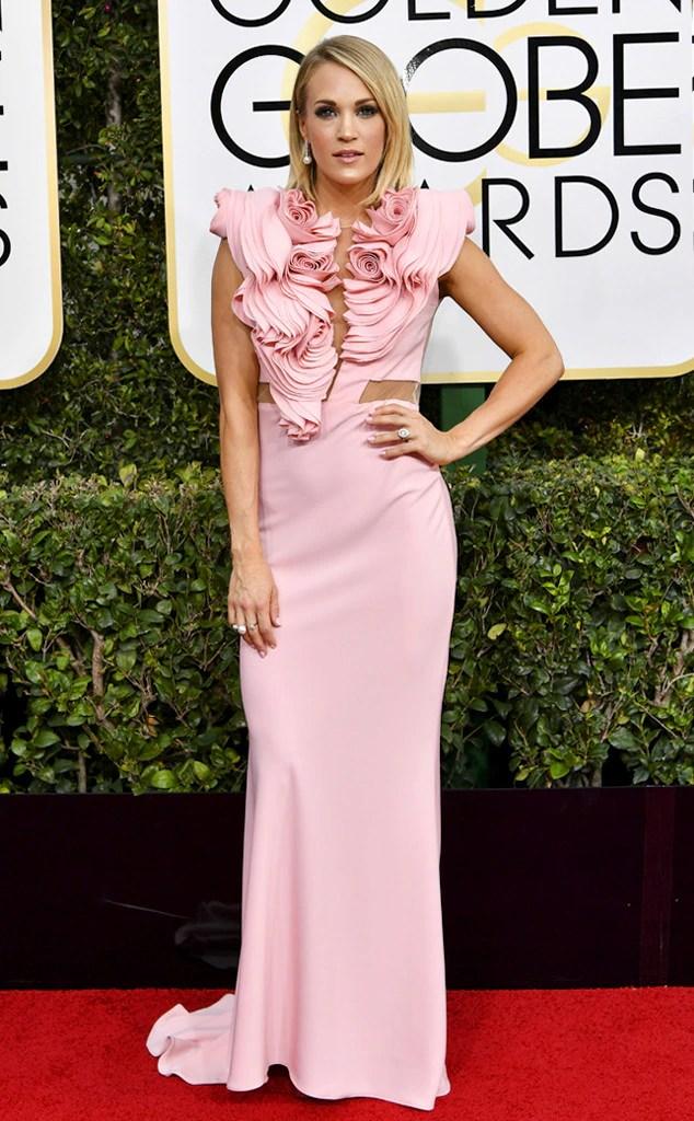 2017 Golden Globes Red Carpet Arrivals Carrie Underwood, 2017 Golden Globes, Arrivals