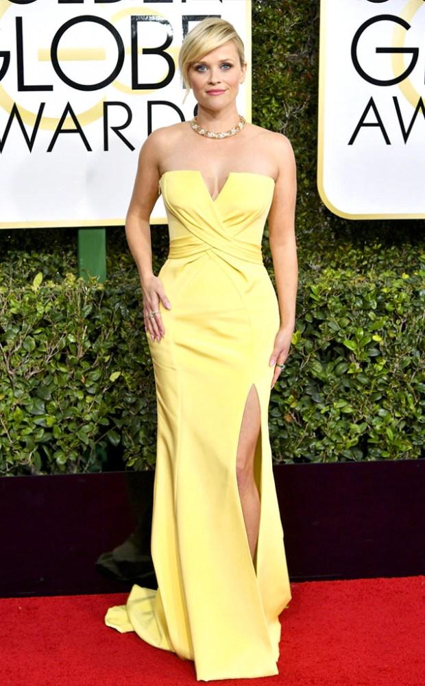 2017 Golden Globes Red Carpet Arrivals Reese Witherspoon, 2017 Golden Globes, Arrivals