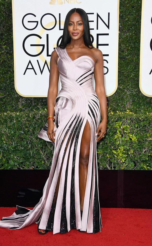 Naomi Campbell, 2017 Golden Globes, Arrivals