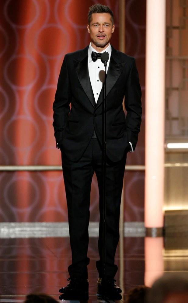Brad Pitt, 2017 Golden Globes
