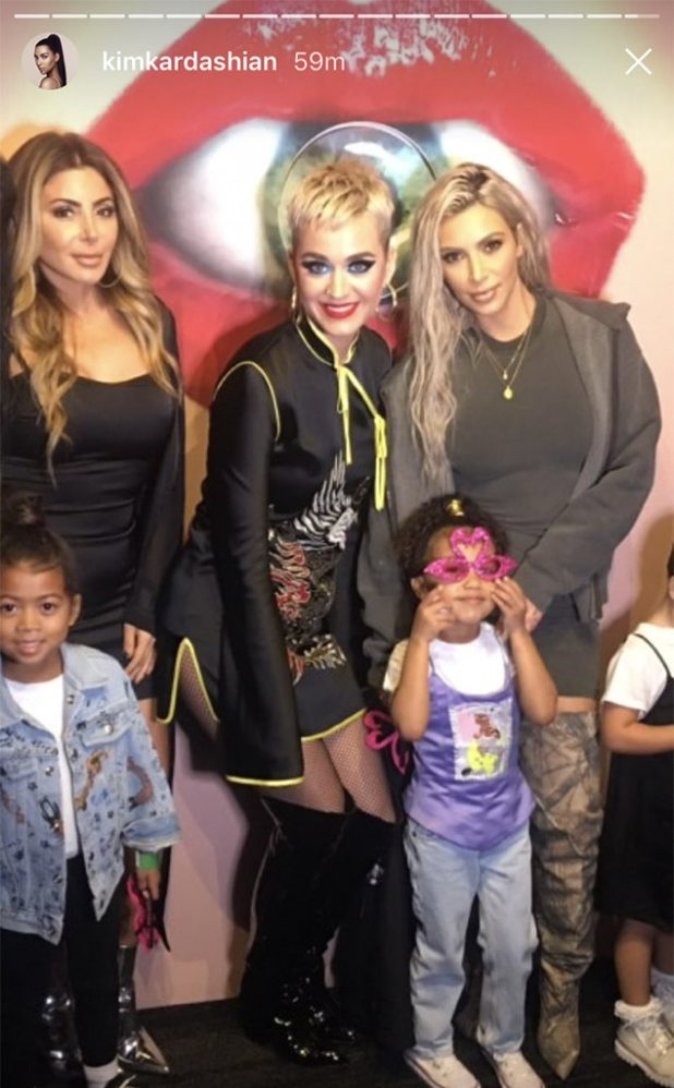 Kim Kardashian, North West, Katy Perry, Larsa Pippen