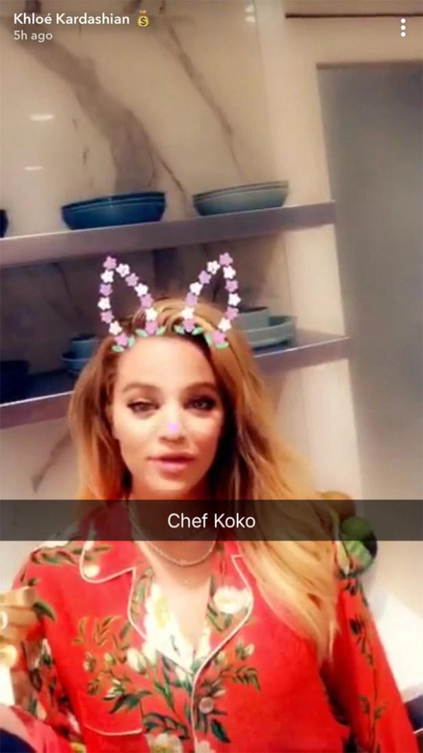 Khloe Kardashian, Thanksgiving 2017