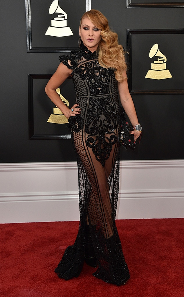 Paulina Rubio 2017 Grammy's Red Carpet Fashion, Best and Worst Dressed, on Fashion, Beauty, and Lifestyle Blog UwanaWhat.com